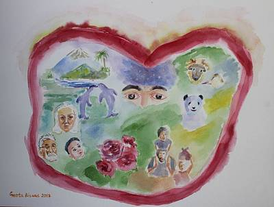 Painting - Heart Of A Living Being by Geeta Biswas