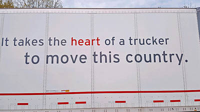 Photograph - Heart Of A Trucker by Kay Novy