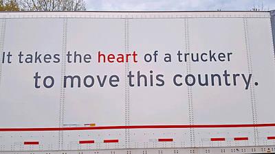 Photograph - Heart Of A Trucker by Kay Novy