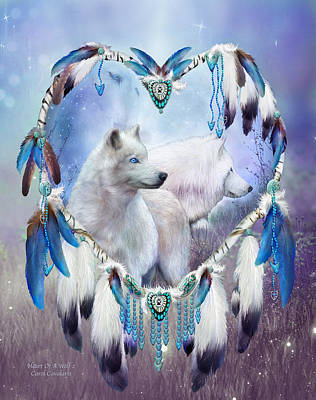 Mixed Media - Heart Of A Wolf 2 by Carol Cavalaris