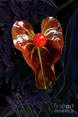 Heart Of Anthurium Original by Morris Keyonzo