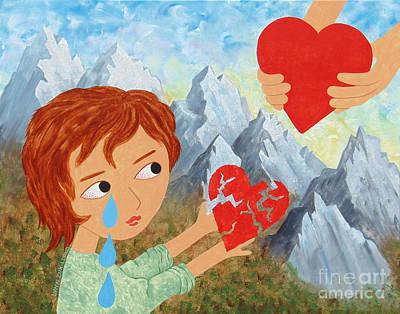 Wall Art - Painting - Heart Of Compassion by Lynn Zuk-Lloyd