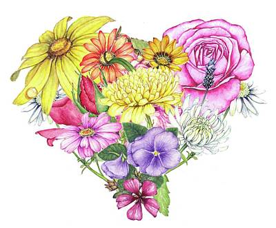 Painting - Heart Of Flowers by Heidi Kriel