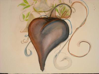 Trumpet Painting - Heart Of Flowers by Marian Hebert