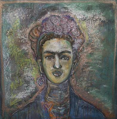 Painting - Heart Of Gold Frida by Laurie Maves ART