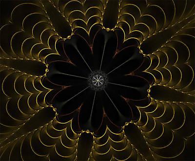 Digital Art - Heart Of Gold Mandala by Barbara A Lane