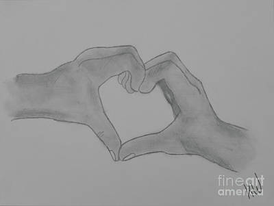 Drawing - Heart Of Hands by Jennifer White