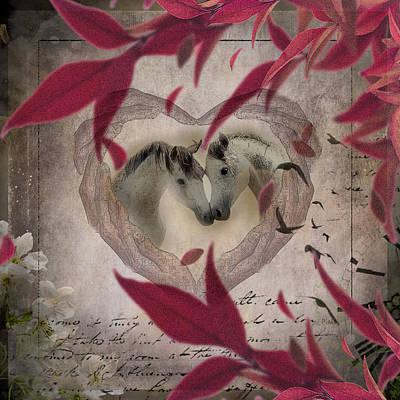 Arabian Horses Mixed Media - Heart Of Love by ELA-EquusArt