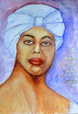 Painting - Heart Of Love  Marie Laveau by Janice T Keller-Kimball