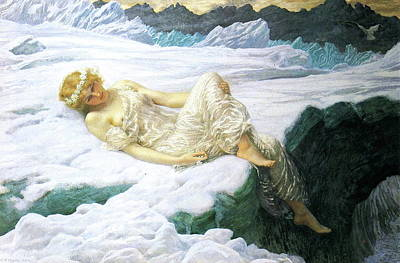 Painting - Heart Of Snow by Edward Robert Hughes