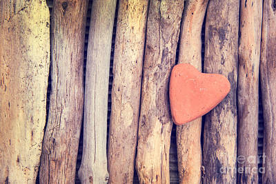 Cabin Wall Photograph - Heart Of Stone by Delphimages Photo Creations