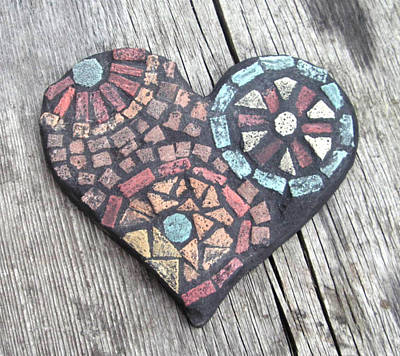 Byzantine Mixed Media - Heart Of Stone by Leslie Morton