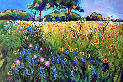 Wall Art - Painting - Heart Of Texas Spring Pasture by Charles Wallis