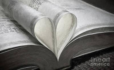 Heart Of The Book  Art Print