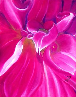 Painting - Heart Of The Dahlia by Joni McPherson