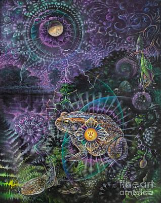 Visionary Painting - Heart Of The Mystery by Tatiana Kiselyova