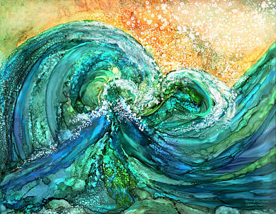 Mixed Media - Heart Of The Ocean by Carol Cavalaris