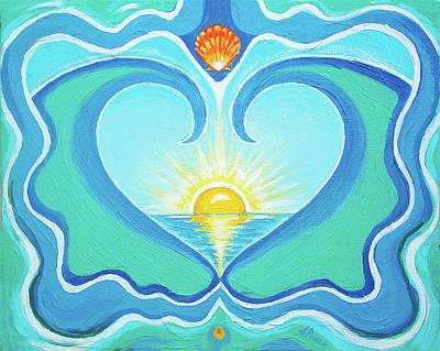 Chakra Painting - Heart Of The Sea by Jenifer Prince