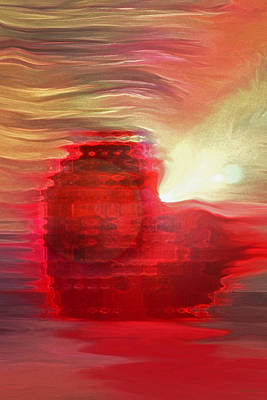 Digital Art - Heart Of The Setting Sun by Linda Sannuti