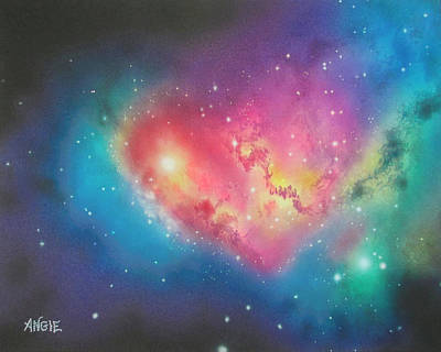 Painting - Heart Of The Universe by Angie Hamlin