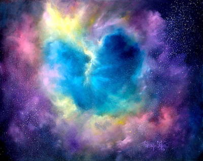 Galaxy Painting - Heart Of The Universe by Sally Seago