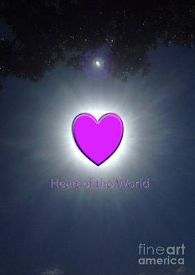 Heart Of The World Art Print by Karen Moren