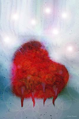 Valentines Day Digital Art - Heart Of Winter by Linda Sannuti