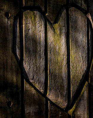 Wood Carved Photograph - Heart Of Wood by Odd Jeppesen