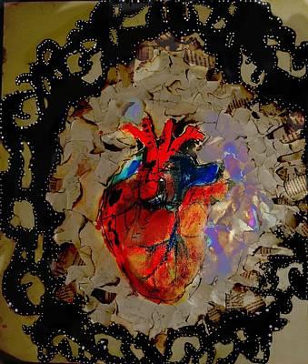 Heart On Fire Art Print by Adrianna Stewart