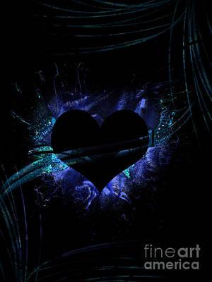 Digital Art - Heart On Fire by Serena Ballard