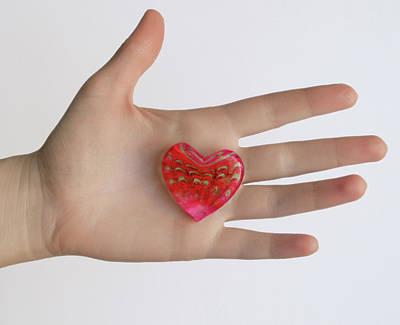 Photograph - Heart In Hand by Masha Batkova