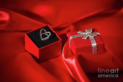 Sterling Silver Pendants Photograph - Heart Pendant In A Gift Box by Luigi Morbidelli