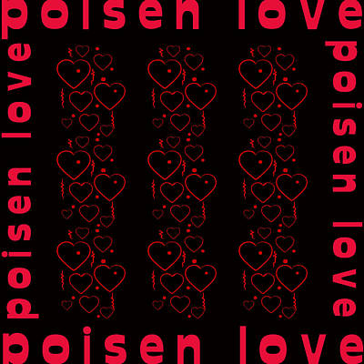 Burnt Digital Art - Heart Poisen Love by Tommytechno Sweden