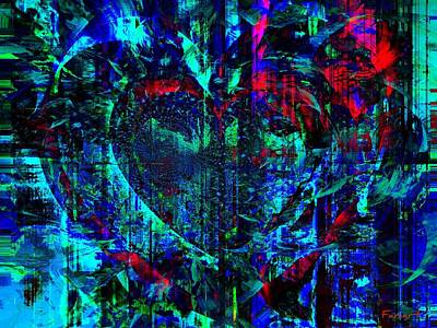 Art Print featuring the painting Heart Potential by Fania Simon
