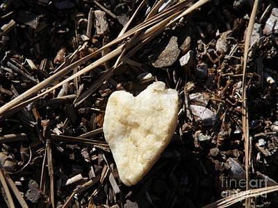 Heart Quartz In The Pines Original by Megan Brandl