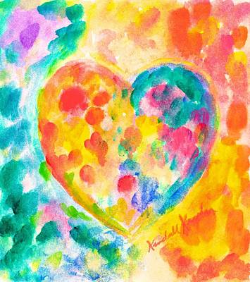 Painting - Heart Rainbow by Kendall Kessler