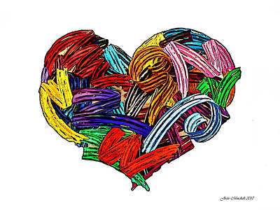 Photograph - Heart Ribbons by Joan  Minchak
