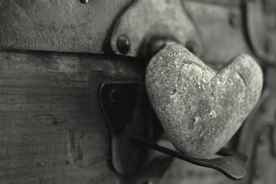 Heart Rock Art Print by Toni Hopper