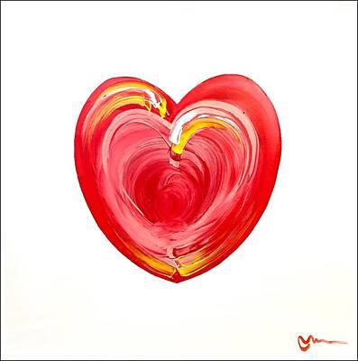 Painting - Heart Series 37 by Mac Worthington