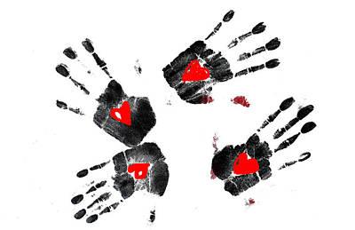 Heart Shape In  Hands Art Print