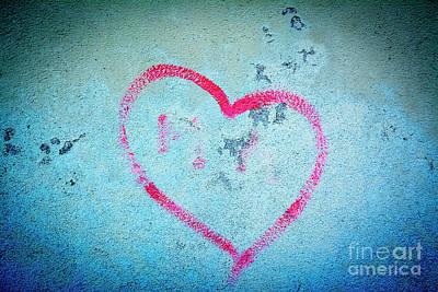 Heart Shape On A Wall Art Print