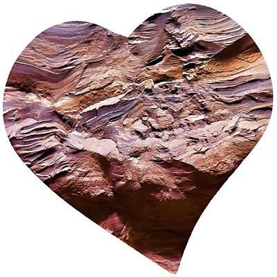 Digital Art - Heart Shape Stone Art by OLena Art Brand