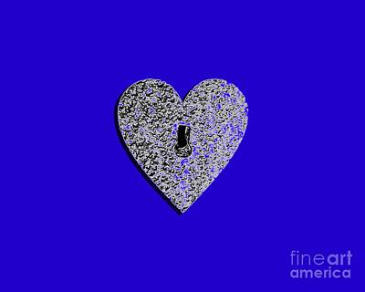 Shower Digital Art - Heart Shaped Lock .png by Al Powell Photography USA