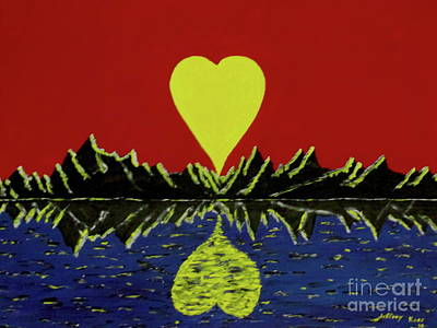 Painting - Heart Shaped Sunset by Jeffrey Koss