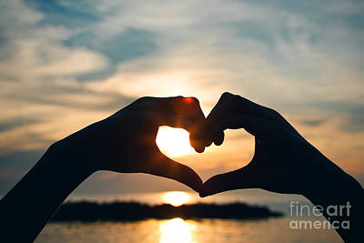 Photograph - Heart Shaped Sunset by Sharon Dominick