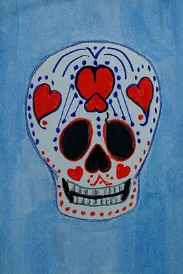 Mixed Media - Heart Skull by Charla Van Vlack