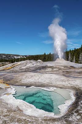 Photograph - Heart Spring And Lion Geyser by Janet Jones