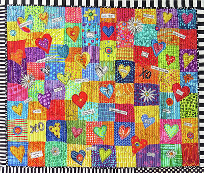 Tapestry - Textile - Heart Strings by Susan Rienzo