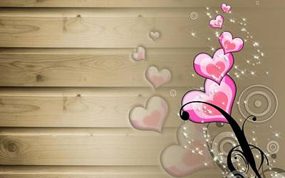 Digital Art - Heart by Super Lovely