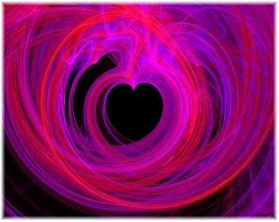 Heart Swirls Art Print